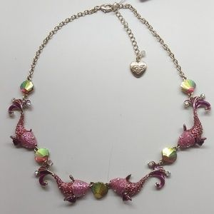 Betsey Johnson New Dolphin/Seashell Necklace